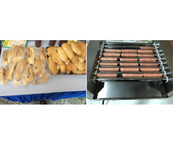 Hotdog Bun Live Station